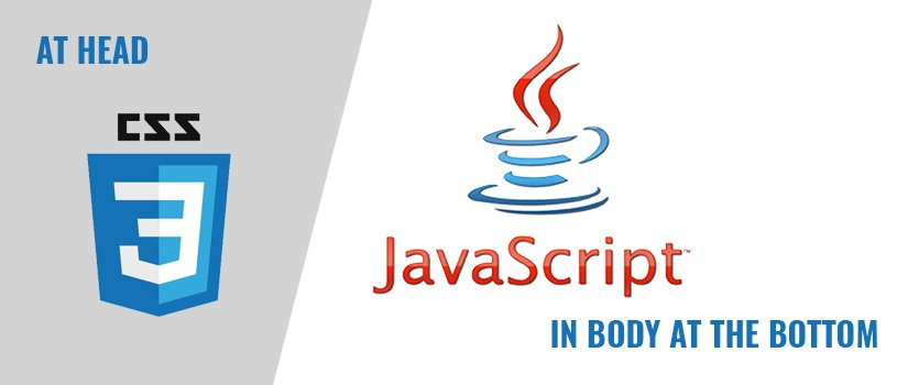 Use JavaScript in Body and CSS in Head