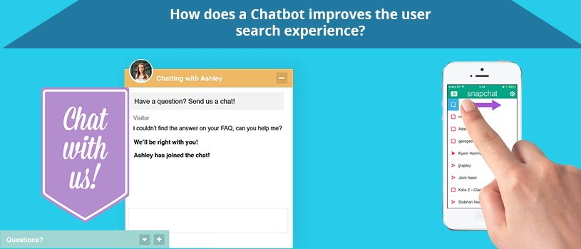 How does a Chatbot improves the user search experience
