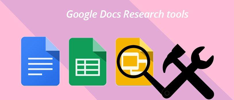 Google Docs Research tools