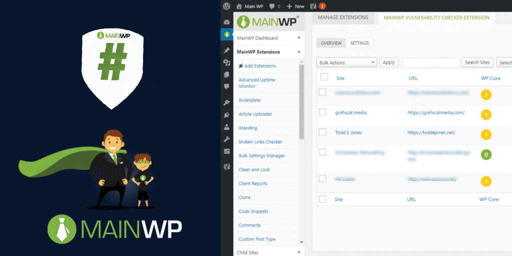 ManageWP manage multiple WordPress plugin